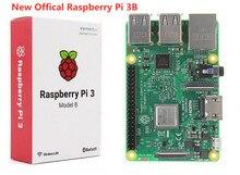 Одноплатный компьютер, Raspberry Pi 3 Model B, новый Soc BCM2837B0, 1,2 ГГц Процессор, 1GB Оперативная память Wi-Fi/BLE, 40 GPIO