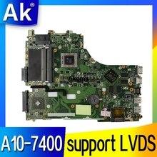 Akemy Per ASUS X550ZE K555Z A555Z X555Z X750/X550 scheda madre Del Computer Portatile A10-7400 LVDS supporto Mainboard con carta di test della scheda grafica buona