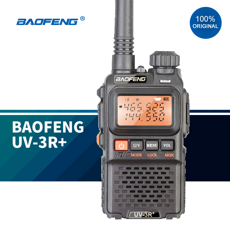 BAOFENG 100% Original-MINI Walkie Talkie UHF y VHF, Radio bidireccional portátil con transceptor de Radio Ham 433MHz LoRa RS232 RS485 módem DTU de larga distancia 2km 17dBm transmisor inalámbrico módulo Digital MEC PLC receptor