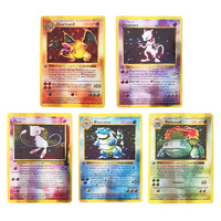 Charizard-tarjeta Flash de Pokemon Mewtwo, tarjetas de primera edición, versión en inglés, primera generación, juego de colección, regalo, 5 uds.