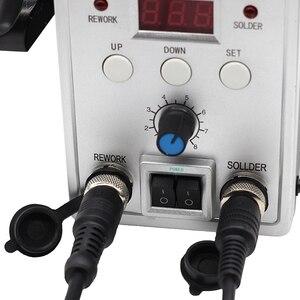 Image 5 - Yarboly 8586 הלחמה תחנת נייד דיגיטלי אוויר חם אקדח BGA עיבוד חוזר הלחמה תחנת האוויר חם מפוח אקדח חום הסרת הלחמה כלי
