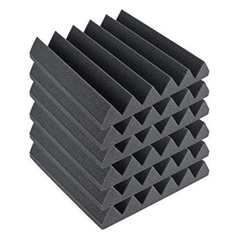 Soundproofing Foam Wedge Acoustic Wall Panels Tiles Studio Foam Sound Proof Padding Wedge Sound Dampening Foam Perfect For Home