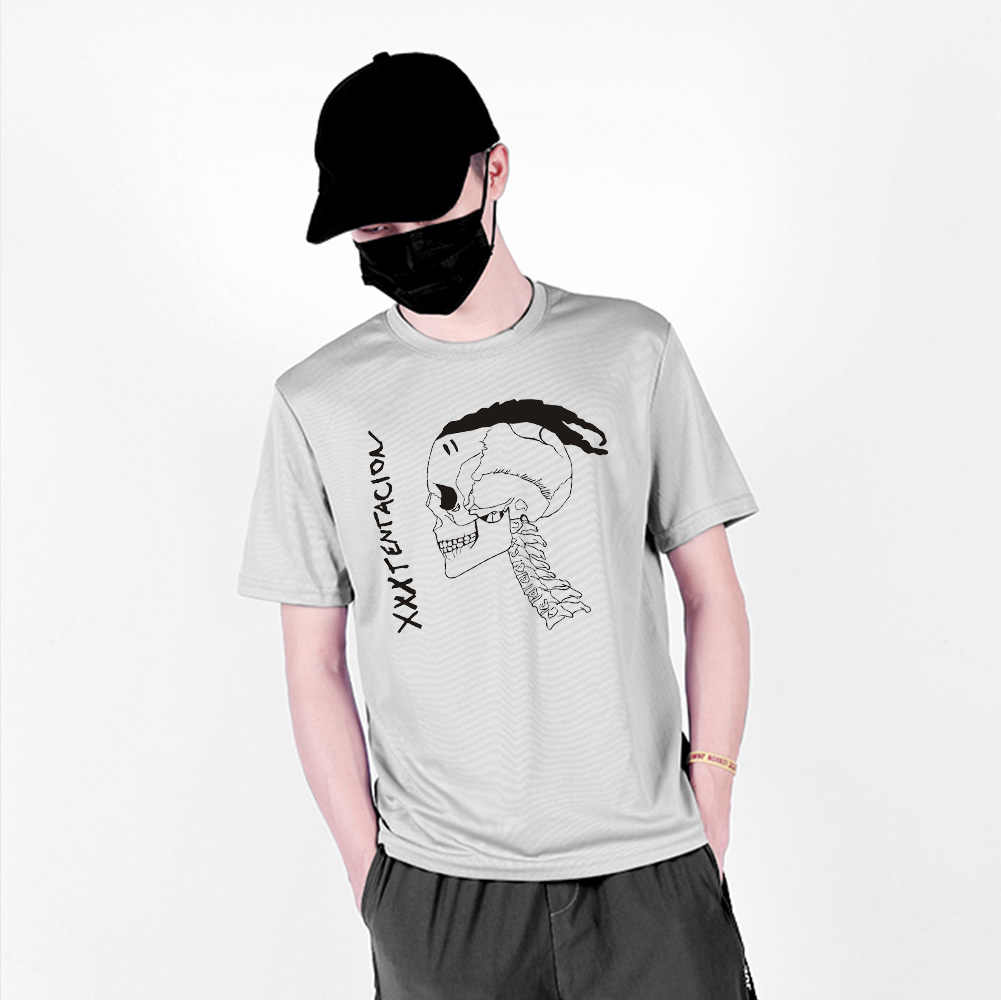XXXTENTACION 通気性プリントファッション Tシャツ女性/男性夏速乾半袖 Tシャツカジュアルストリートシャツ
