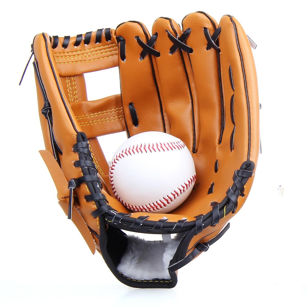 Men Baseball Batting Gloves Kids Leather Right Baseball Glove Equipment Practice Hand Gants Guante Beisbol Sportswear BJ50ST