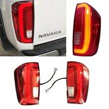 Auto Exterieur Led Rear Parking Reverse Dag Lichten Achterlichten Fit Voor Nissan Navara NP300 2015 2018 Pickup Led richtingaanwijzer
