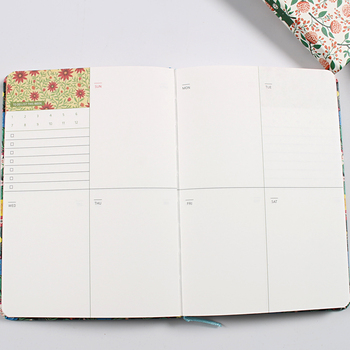 Cute Flowers Leather Notebook Diary Weekly Planner Agenda 2020 Notepad Mini Small Bullet Journal Stationery Filofax Organizer A5 1