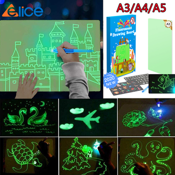 Fun Drawing Pad Board Glow in Dark with Light drawing board for Kids  luminous Educational Toy Painting
