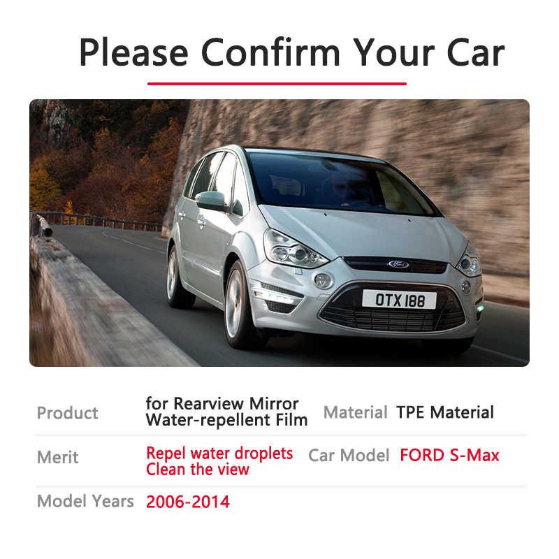 Tam kapak Anti sis yağmur geçirmez Film dikiz Ford s-max için MK1 2006 ~ 2014 araba çıkartmaları aksesuarları 2007 2008 2010 2011 Smax S max