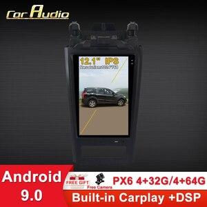 Автомобильный мультимедийный плеер, Android 9,0 Tesla style, GPS, радио, 12,1