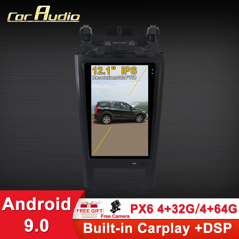 <font><b>Car</b></font> <font><b>Audio</b></font> <font><b>Android</b></font> 9.0 Tesla style <font><b>Car</b></font> GPS Radio 12.1