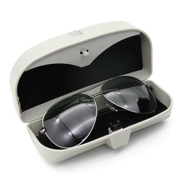 Car Glasses Box Car Sunshade Bill Clip Multifunctional Car Glasses Storage Box Organizer Box Sunglasses Holder