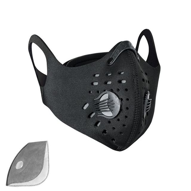 PM2.5 Cycling Mask  Sport Face Mask  Activated Carbon Filter Anti-Pollution Running Training Cycling Mask 1