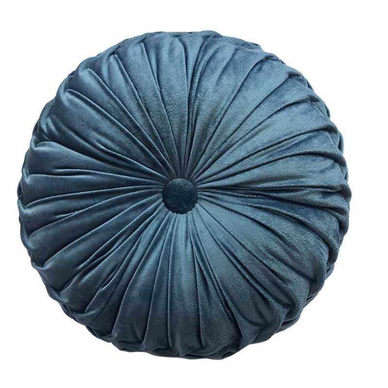 Cojín de asiento de refuerzo redondo de terciopelo de tela de calabaza silla almohada sofá cojín de respaldo 36x36cm