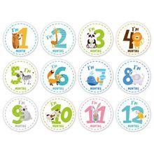 Детские наклейки на каждый месяц детские наклейки на живот веха ежемесячный возраст стикер унисекс P31B