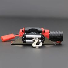RC Crawler Simulation Model Car Winch Wireless Remote Control Receiver Red Metal Winch for SCX10 634F full scale remote control receiver esc upgrade op fitting accessories for wpl rc car ship model 634f