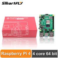 Dernier Raspberry Pi 4 modèle B LPDDR4 2G/4G Quad-core Cortex-A72 (bras v8) 64-bit 1.5Ghz double 4K HDMI puissance de sortie que 3B +