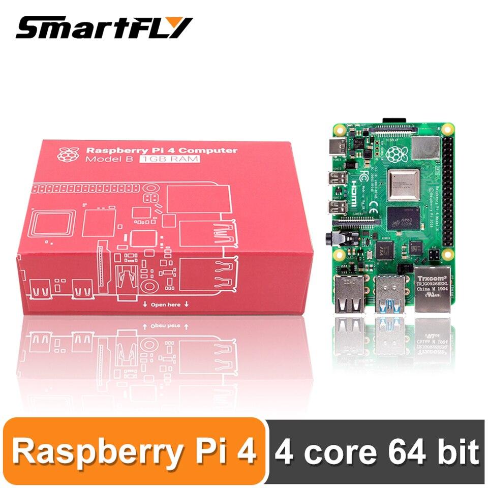 Mais recente 4 Raspberry Pi Modelo B LPDDR4 2G/4G Quad-core Cortex-A72 (BRAÇO v8) 64-bit 1.5Ghz Dual Poder do que 3B 4K Saída HDMI +