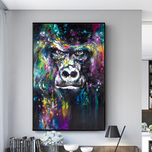 Apes Graffiti Art Canvas Paintings On the Wall Posters And Prints Abstract Monkey Pictures For Kids Room Cuadros