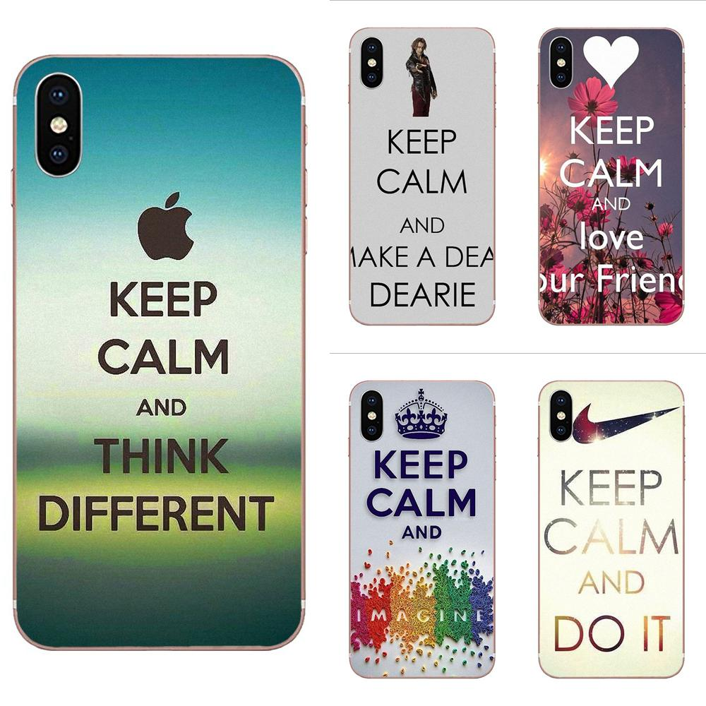 Keep Calm Don Soft TPU Original For Xiaomi Redmi Mi 4 7A 9T K20 CC9 CC9e Note 7 9 Y3 SE Pro Prime Go Play image