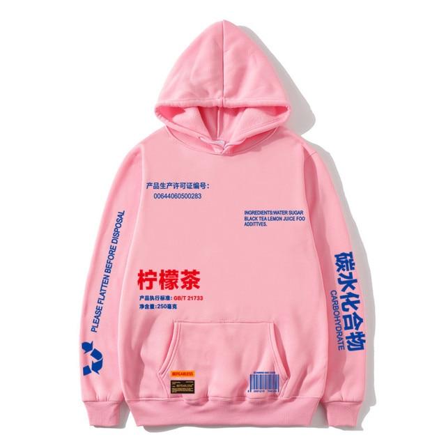 Hot hoodies Lemon Tea Printed Fleece Hoodies Men/Women Autumn Casual Pullover Sweats Hoodie Male Fashion Skateboards Sweatshirts 2
