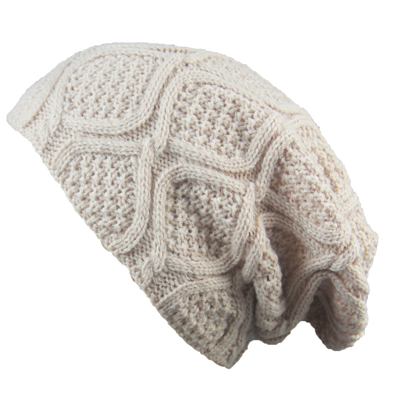 New Winter Hats For Women Men Bonnet Oversized Slouch Twist Hat Thick Warm Caps Mens Casual Knitted Beanie Cap Outdoor Knit Hat