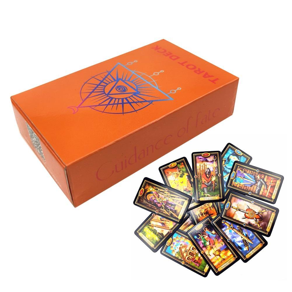 78PCS English Language Tarot Cards Beautiful Kit Card Deck Layout Sheet Handbook For Beginners Board Games Playing Cards