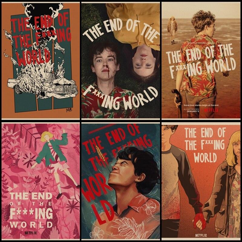 Купите три, чтобы отправить один конец F *** ing World TV series Ретро плакат, крафт-бумага постер художественная иллюстрация картина для украшения до...