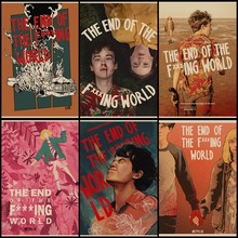 Buy three to send one The End of the F***ing World TV series poster retro kraft poster art illustration home decoration painting