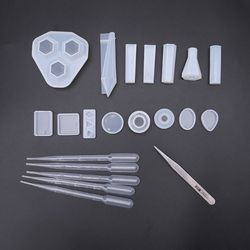Epoxy Harz Silikon Anhänger Form DIY Handgemachten Schmuck Handwerk Machen Werkzeuge Füllen Material