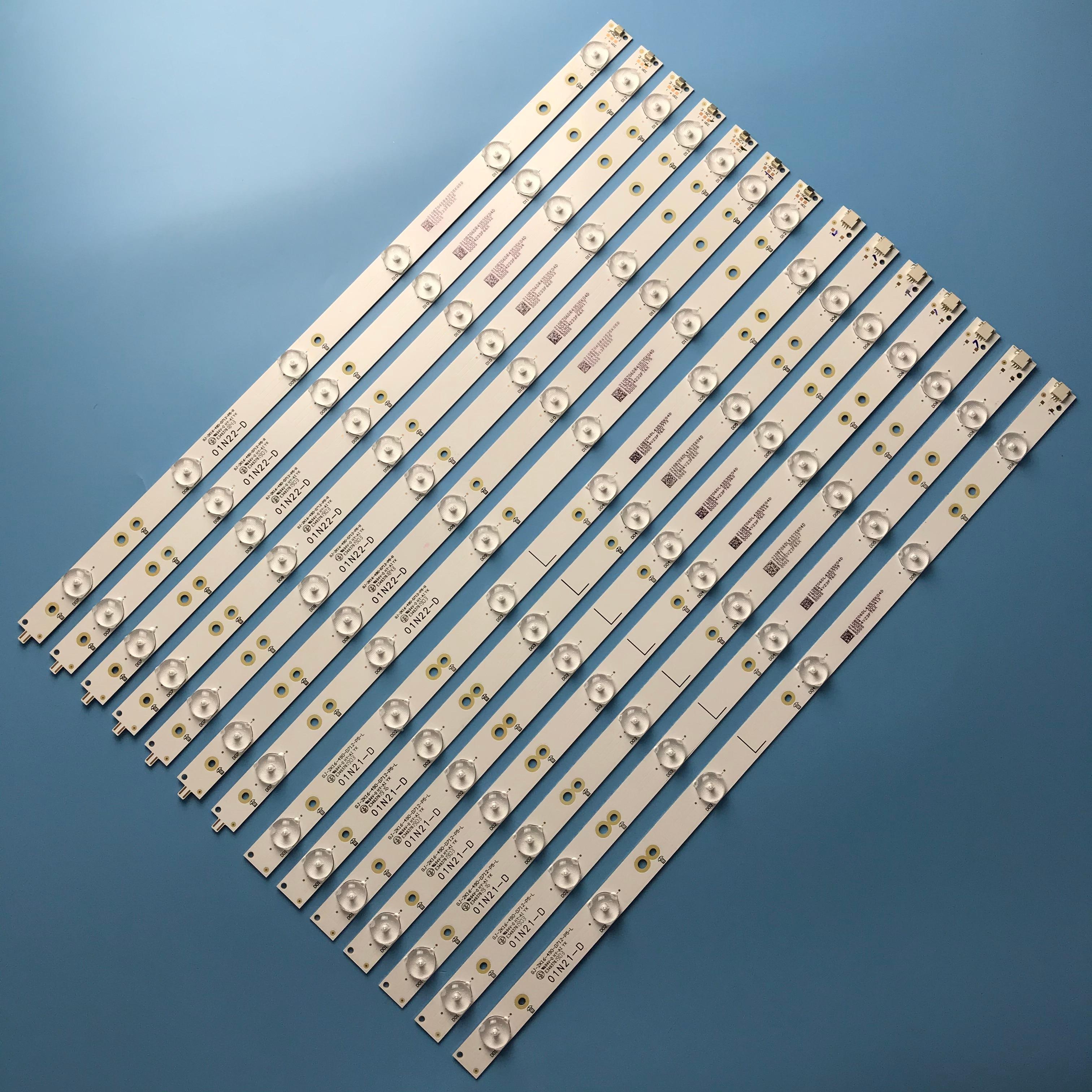 LED Backlight Strip 6+6leds GJ-2K16-490-D712-P5-L+R For Philips 49'' 49PUS6401 49PUS6501 49PUH6101 49PUS6561/12  49PUS6101/12