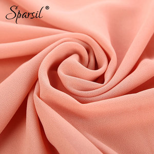 Image 5 - Sparsil Quality Chiffon Scarves Solid Color Headband Spring Summer Thin Breathable Beach Shawls Hot Muslim Female Hijabs Scarf