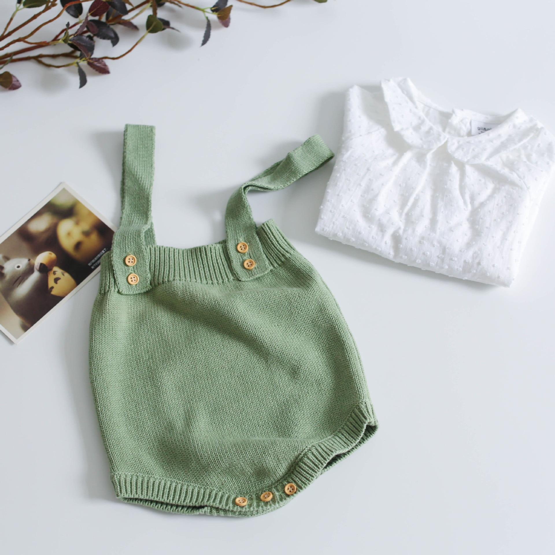 H46f3b3ec3a7543d8bda1f224fb9b7557T Baby Knitting Rompers Cute Overalls Newborn Baby Girls Boys Clothes Infantil Baby Girl Boy Sleeveless Romper Jumpsuit 0-24m