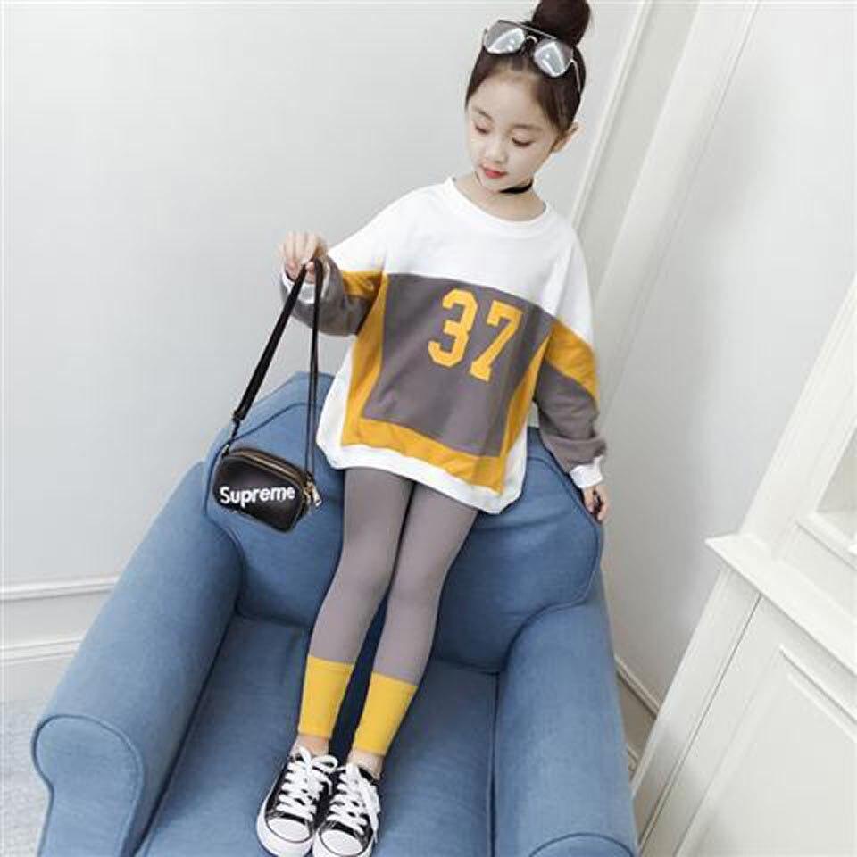 2019 новые комплекты детской одежды, костюмы для детей, спортивные костюмы, комплекты одежды для девочек, платье для девочек + штаны, повседневная одежда для маленьких девочек|Комплекты одежды| | - AliExpress