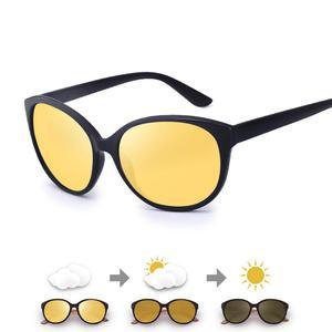 Image 4 - FENCHI kedi göz kadınlar gece görüş gözlüğü polarize sarı Lens güneş gözlüğü sürüş gece görüş gözlüğü için vizyon Nocturna