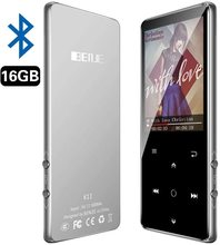 Lecteur MP3, BENJIE 16GB 2.4 pouces MP3 Bluetooth 4.0 HiFi lecteur de musique sans perte, écran couleur TFT/radio FM, prise en charge maximale 128GB