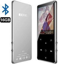 Reproductor MP3, BENJIE 16GB 2,4 pulgadas MP3 Bluetooth 4,0 HiFi reproductor de música sin pérdidas, pantalla a color TFT/radio FM, soporte máximo 128GB