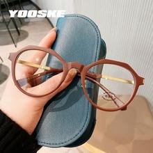 YOOSKE – lunettes Anti-Radiation pour hommes et femmes, monture ronde et irrégulière, Anti-lumière bleue, pour ordinateur