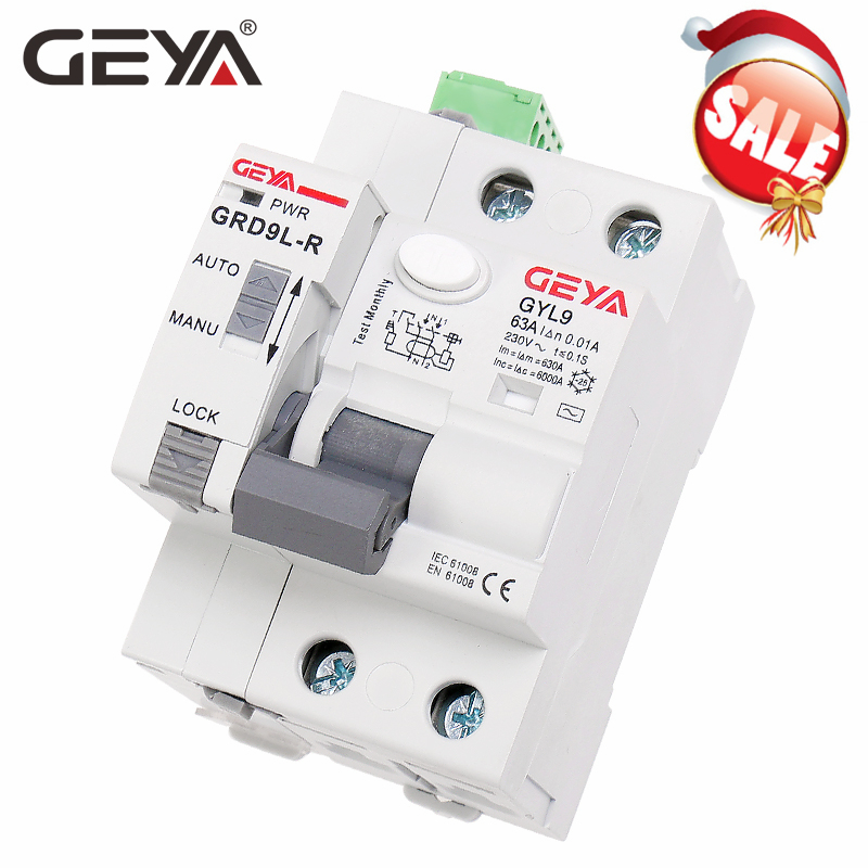GEYA GRD9L 6KA ELCB RCCB Automatic Reclosing Device with RS485 Function Remote Control Circuit Breaker 2P 40A 63A 30mA RCD Circuit Breakers    - AliExpress