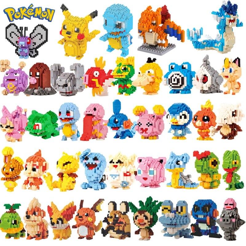 Новинка; Большие размеры 34-Стили Веселые кубики с героем из мультика; Picachu животных модель Образование игры Графика совместимый Pokemon игрушка...