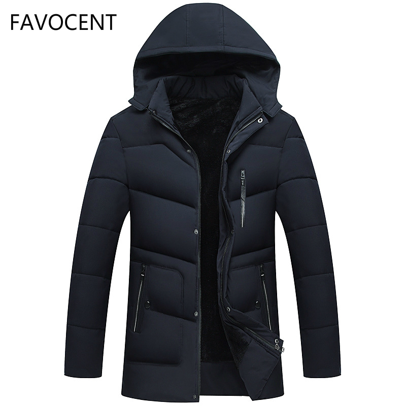 FAVOCENT Good Quality Men Jacket Super Warm Thick Mens Winter 