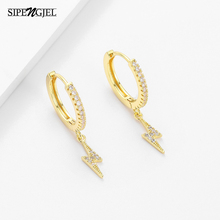 SIPENGJEL Fashion Cute Lightning Bolt Hoop Earrings For Women Dangle Earrings For Girls Party Jewelry 2021 boucle oreille femme
