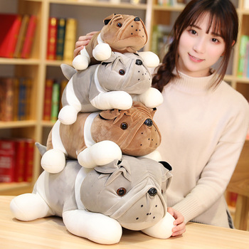 Nice Simulation Plush Pug Toy Stuffed Animal Shar Pei Dog Soft Doll Puppy Plush Pillow Kids Toys Birthday Gift For Girlfriend 20cm stuffed simulation dogs plush sharpei pug lovely puppy pet toy plush animal toy children kids birthday christmas gifts 149