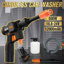 GUANXIN 500W 0-12000mAh Cordless Electric Pressure Washer Power Washing Auto Spray Garden Tool For Makita Lithium Battery