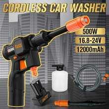 GUANXIN 500W 0-12000mAh akülü elektrikli basınçlı yıkama güç yıkama otomatik sprey bahçe aracı Makita lityum pil