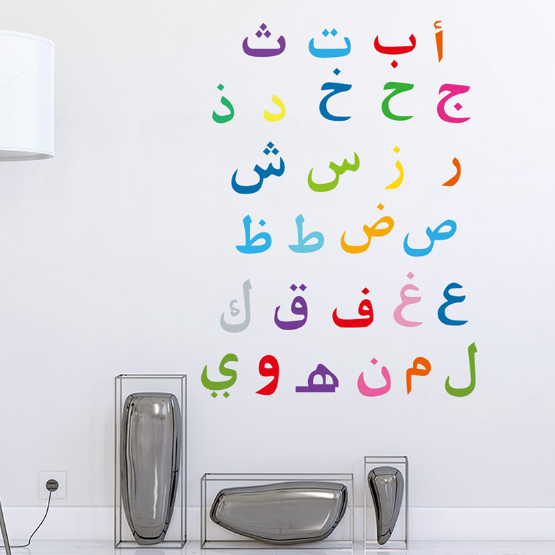 Image 4 - Muslim Words Decorative Islamic Wall Stickers For Home Decor  Living Room Decoration Mural PVC Wallpaper Characters Art DecalsWall  Stickers