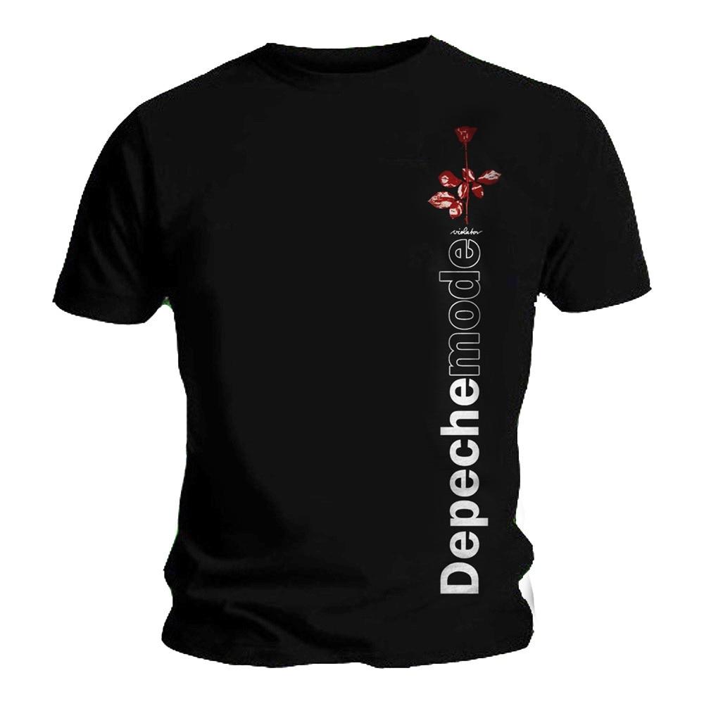 T Shirt DEPECHE Tee MODE Album Logo VIOLATOR Side Rose All Sizes Men Women Unisex Fashion Tshirt Free Shipping