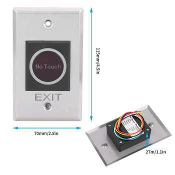 Przełącznik czujnika podczerwieni bezdotykowy przycisk podświetlenia LED System kontroli dostępu DC12V tanie i dobre opinie CN (pochodzenie) Przycisk wyjścia