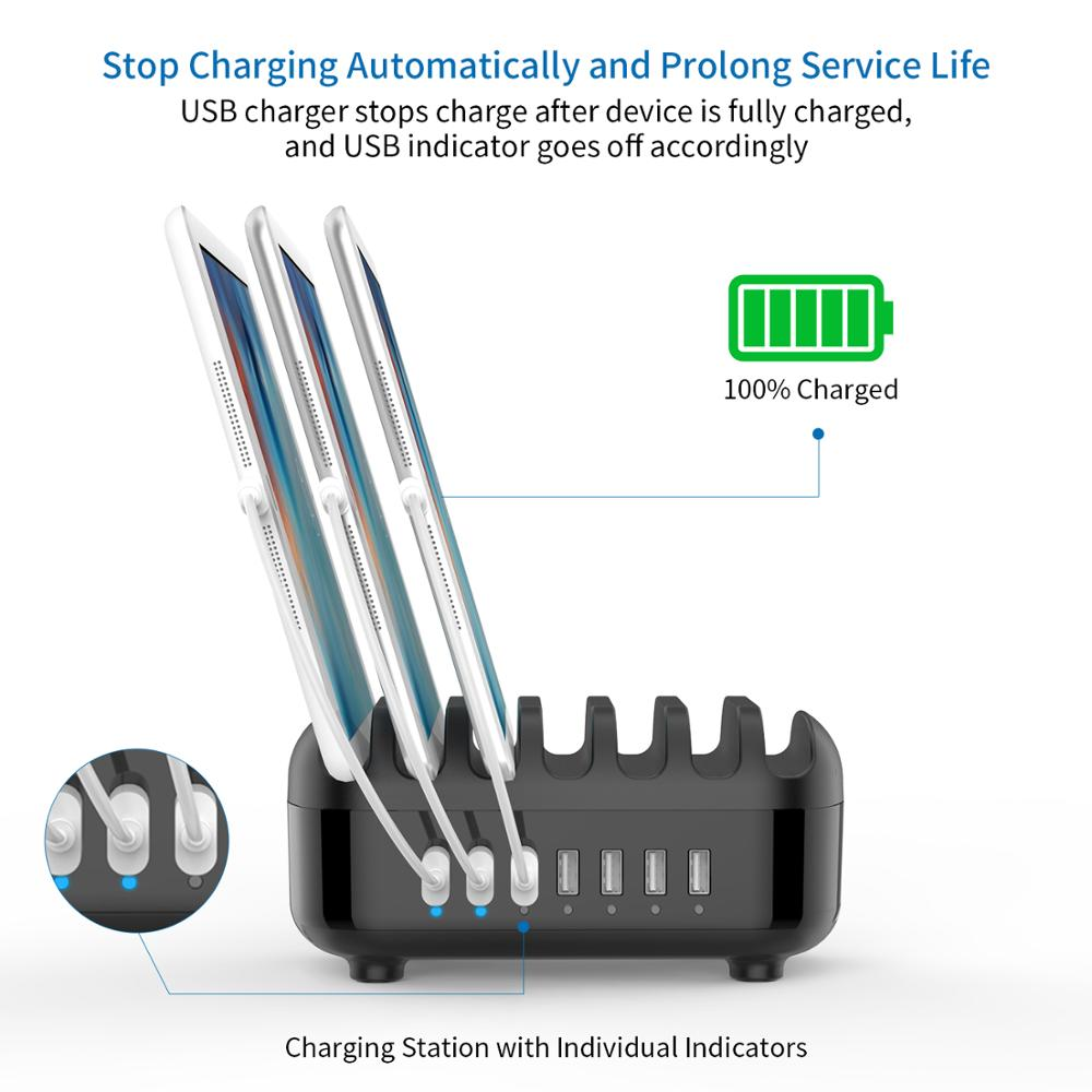 Image 3 - NTONPOWER Universal Charging Station Dock with Holder 70W 7 USB 