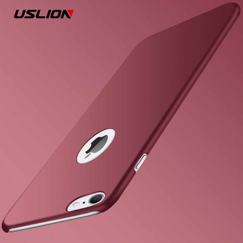Funda mate ultradelgada USLION para iPhone 7 Plus XR XS Max X funda Simple para teléfono para iPhone 6 6S Plus 5 5S SE
