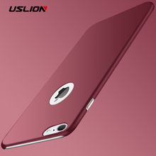 USLION Ultra delgada PC mate para iPhone 7 Plus XR XS Max X Simple llano de la cubierta del teléfono de Coque para iPhone 6 6 6S Plus SE 5 5 5S SE los casos(China)